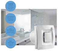Autonomer und intelligenter Abluftventilator SILENT DUAL für das Badezimmer